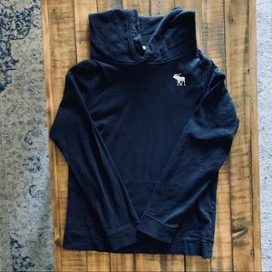 A&F navy hoodie muscle fit